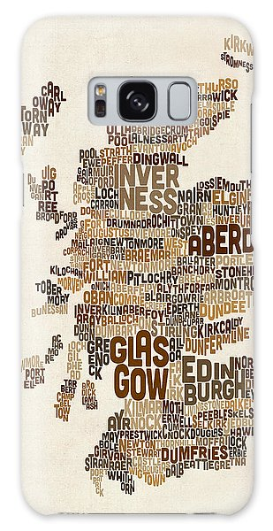 Scotland Galaxy Case - Scotland Typography Text Map by Michael Tompsett