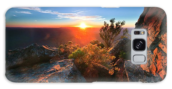 St Mary Peak Sunrise Galaxy Case