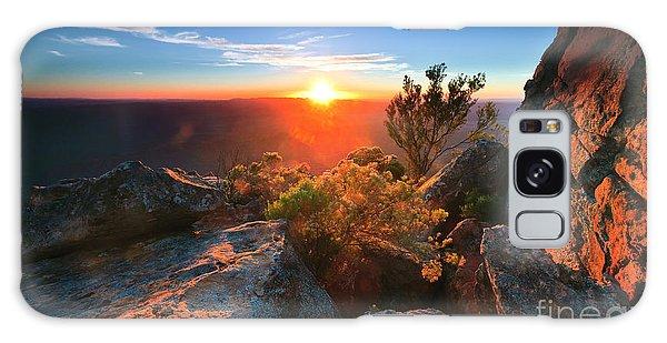 St Mary Peak Sunrise Galaxy Case by Bill  Robinson