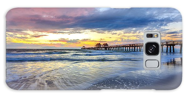 Sunset Naples Pier, Florida Galaxy Case