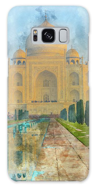 Taj Mahal In Agra India Galaxy Case