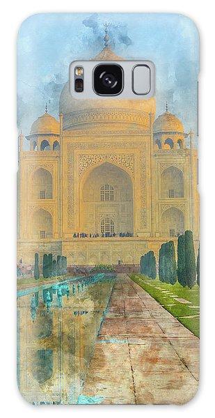 Taj Mahal In Agra India Galaxy Case