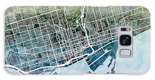 City Map Galaxy Case - Toronto Street Map by Michael Tompsett