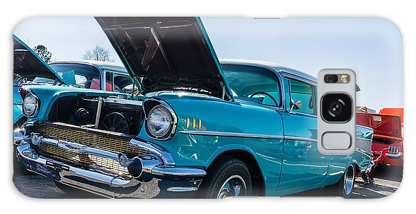 Galaxy Case featuring the photograph 57 Chevy - Ehhs Car Show by Michael Sussman