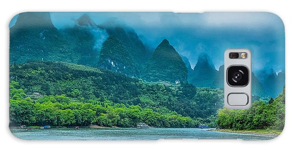 Karst Mountains And Lijiang River Scenery Galaxy Case