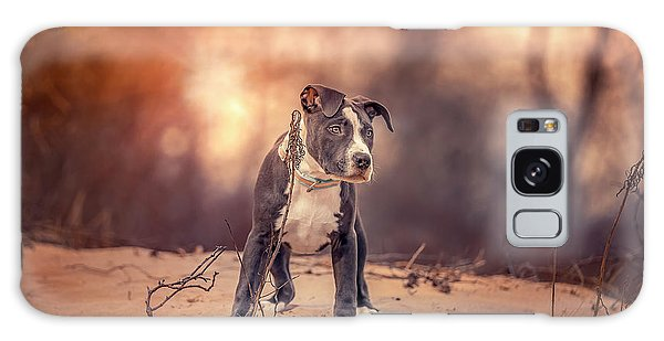 Galaxy Case featuring the photograph American Pitbull  by Peter Lakomy