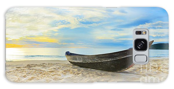 Beach Sunset Galaxy Case - Beach Panorama by MotHaiBaPhoto Prints