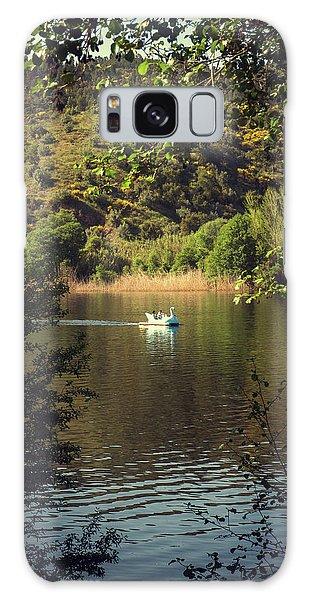 Swan Boats Galaxy Case - Belver Landscape by Carlos Caetano
