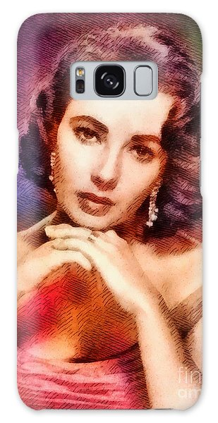 Elizabeth Taylor, Vintage Hollywood Legend Galaxy S8 Case