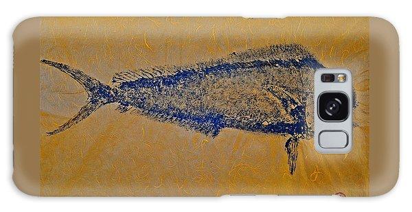 Gyotaku - Mahi Mahi - Dorado - Dolphinfish Galaxy Case