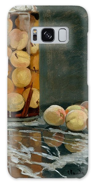 Jar Of Peaches Galaxy Case by Claude Monet
