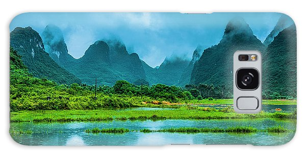 Karst Rural Scenery In Raining Galaxy Case