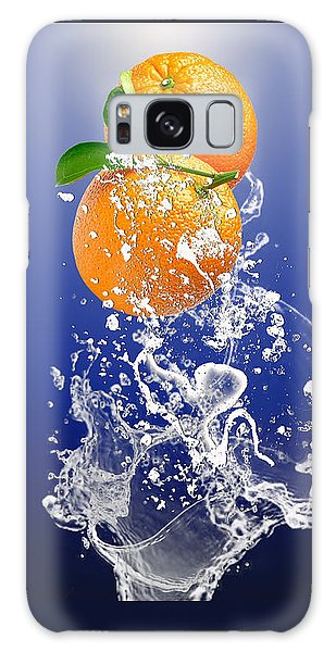 Orange Splash Galaxy Case