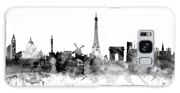 Paris France Skyline Galaxy Case by Michael Tompsett