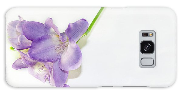 Purple Freesia Galaxy Case by Elvira Ladocki