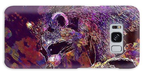 Galaxy Case featuring the digital art Raccoon Wild Animal Furry Mammal  by PixBreak Art