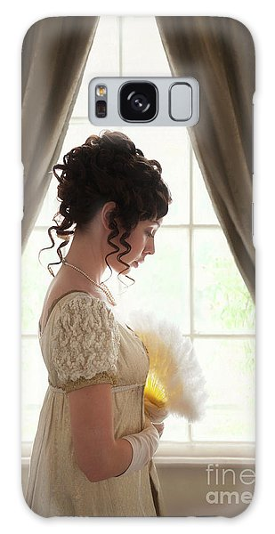 Regency Woman At The Window Galaxy Case by Lee Avison