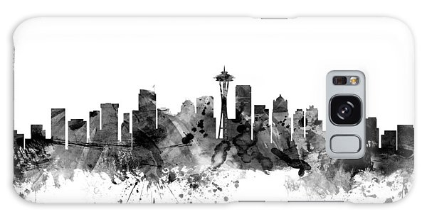 Seattle Skyline Galaxy S8 Case - Seattle Washington Skyline by Michael Tompsett