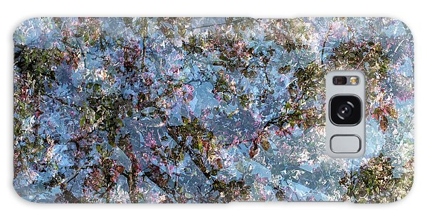 Galaxy Case featuring the photograph Spring Season - Inspired By Jackson Pollock by Shankar Adiseshan