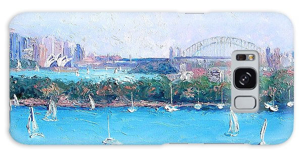Sydney Harbour And The Opera House By Jan Matson Galaxy Case