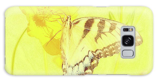 Tiger Swallowtail Butterfly On Cosmos Flower Galaxy Case