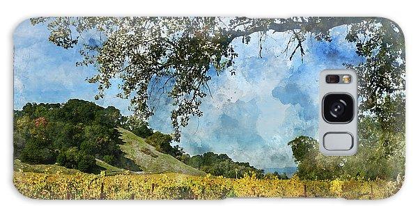 Vineyard In Napa Valley California Galaxy Case