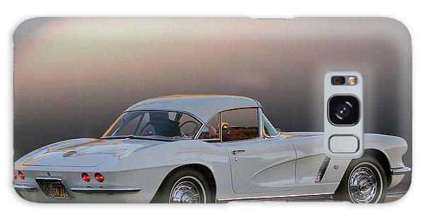 62 White Red Corvette Galaxy Case