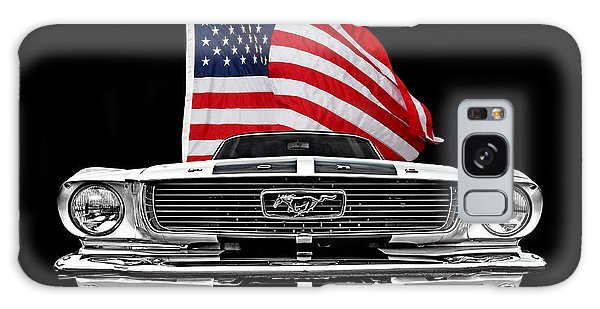 66 Galaxy Case - 66 Mustang With U.s. Flag On Black by Gill Billington