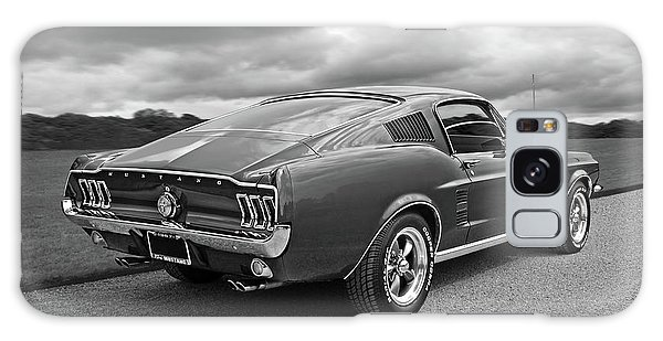 67 Fastback Mustang In Black And White Galaxy Case