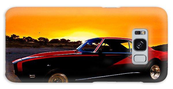 69 Camaro Up At Rocky Ridge For Sunset Galaxy Case