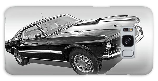 69 Mach1 In Black And White Galaxy Case