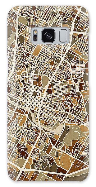 Austin Galaxy S8 Case - Austin Texas City Map by Michael Tompsett