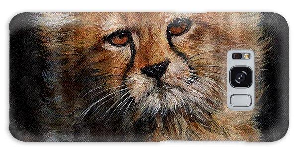 Cheetah Cub Galaxy Case by David Stribbling
