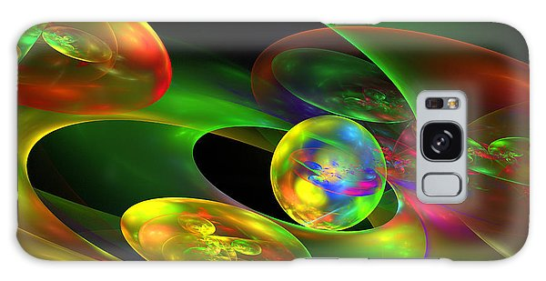 Computer Generated Planet Sphere Abstract Fractal Flame Modern Art Galaxy Case by Keith Webber Jr