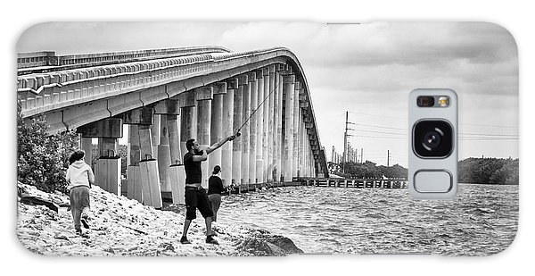 7 Mile Bridge B_w Galaxy Case
