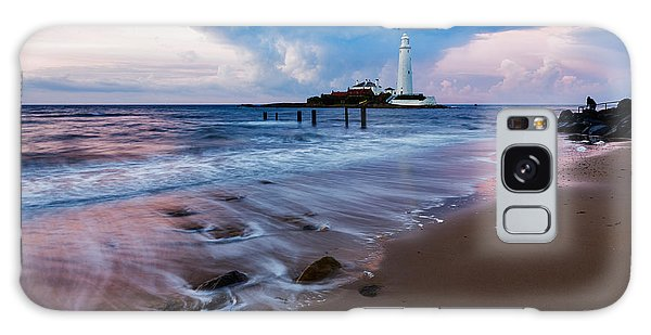 Saint Mary's Lighthouse At Whitley Bay Galaxy Case by Ian Middleton