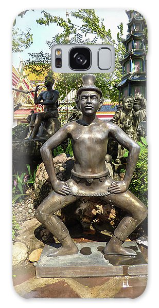 Thai Yoga Statue At Famous Wat Pho Temple Galaxy Case