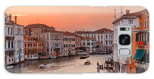 Galaxy Case featuring the photograph Venice Grand Canal Sunset by Songquan Deng