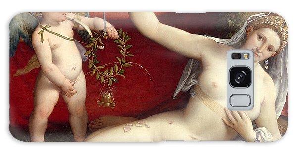 Venus Galaxy Case - Venus And Cupid by Lorenzo Lotto