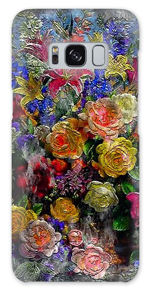 7a Abstract Floral Painting Digital Expressionism Galaxy Case