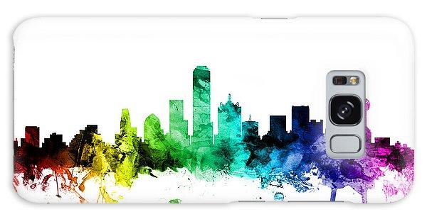 Dallas Texas Skyline Galaxy Case by Michael Tompsett