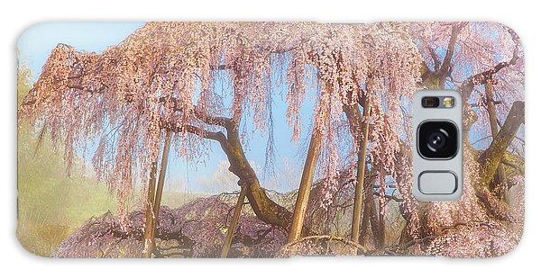 Galaxy Case featuring the photograph Miharu Takizakura Weeping Cherry08 by Tatsuya Atarashi