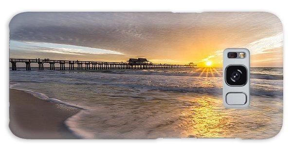 Sunset Naples Pier Florida Galaxy Case