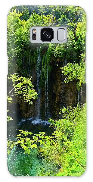 Waterfall In Plitvice National Park In Croatia Galaxy Case