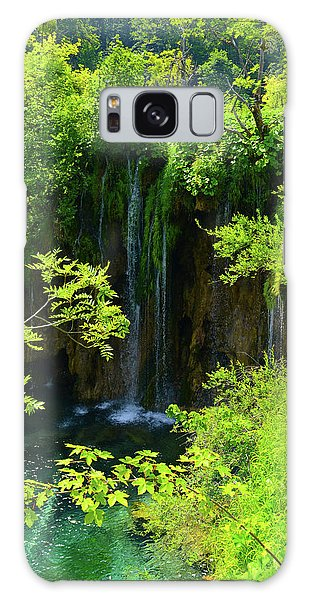 Waterfall In Plitvice National Park In Croatia Galaxy Case
