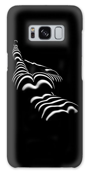 8897-slg Zebra Woman Legs Up Black And White Photograph By Chris Maher Galaxy Case