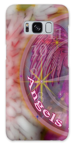 #8913_444 Angels Are Present  Galaxy Case