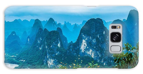 Karst Mountains Landscape Galaxy Case