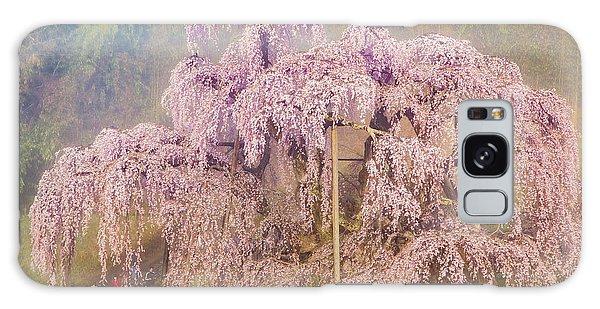 Galaxy Case featuring the photograph Miharu Takizakura Weeping Cherry09 by Tatsuya Atarashi