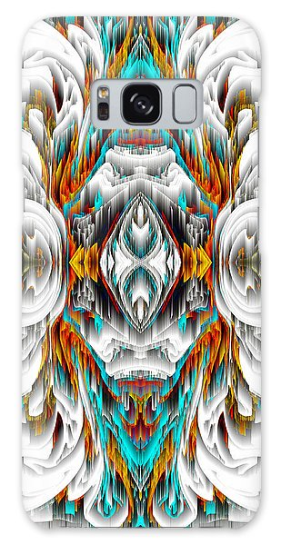 Galaxy Case featuring the digital art 992.042212mirror2ornategold-1-a by Kris Haas